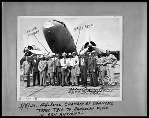 Primary view of object titled 'Men's Group by Air Force Plane'.