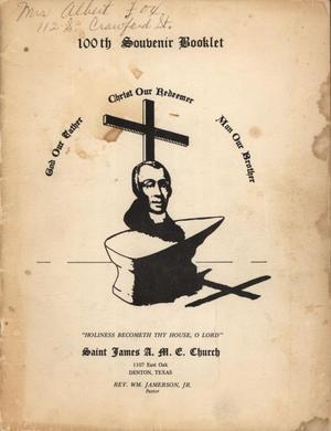 [Saint James A. M. E. Church 100th Anniversary Book]