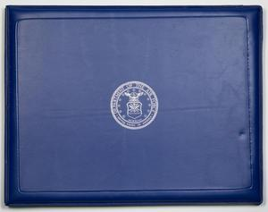 Primary view of object titled '[U.S. Air Force Academy Certificate]'.