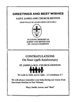 Saint james a m e church 135th anniversary book page 47 the upcoming item 51 m4hsunfo