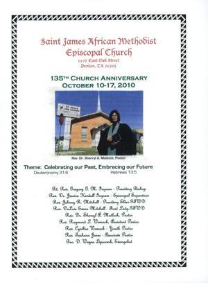 [Saint James A. M. E. Church 135th Anniversary Book]