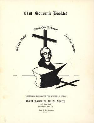 [Saint James A. M. E. Church 91st Anniversary Book]