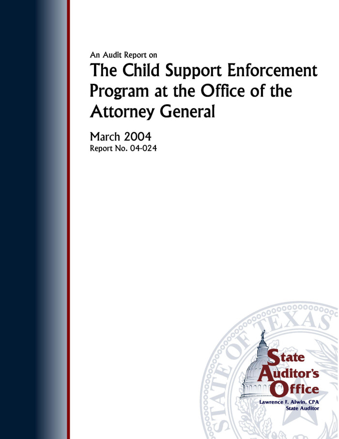 The Attorney General State Of Texas Child Support Division ...