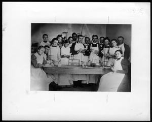 Primary view of object titled 'Chemistry Class Lab, 1900.'.