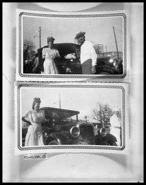 Primary view of object titled 'Couple in Costume with Antique Car'.