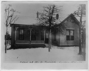 Primary view of object titled 'President's home, North Texas Normal College, 1895-1901'.