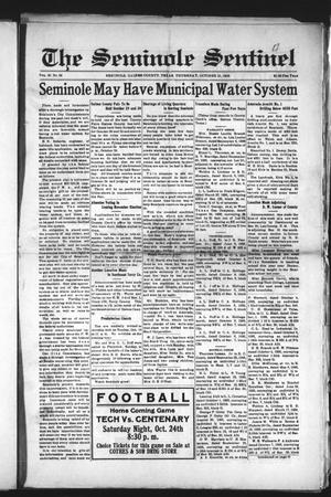 Primary view of object titled 'The Seminole Sentinel (Seminole, Tex.), Vol. 30, No. 33, Ed. 1 Thursday, October 15, 1936'.