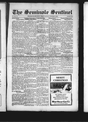 Primary view of object titled 'The Seminole Sentinel (Seminole, Tex.), Vol. 29, No. 42, Ed. 1 Thursday, December 19, 1935'.
