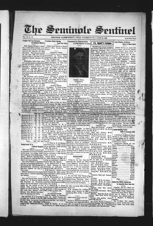Primary view of object titled 'The Seminole Sentinel (Seminole, Tex.), Vol. 29, No. 50, Ed. 1 Thursday, February 13, 1936'.