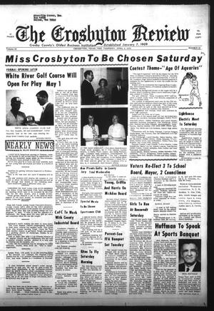 Primary view of object titled 'The Crosbyton Review (Crosbyton, Tex.), Vol. 62, No. 15, Ed. 1 Thursday, April 9, 1970'.