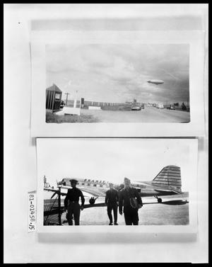 Primary view of object titled 'Blimp; Soldiers at Airport'.