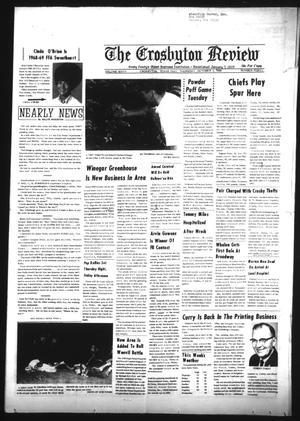 Primary view of The Crosbyton Review (Crosbyton, Tex.), Vol. 60, No. 40, Ed. 1 Thursday, October 3, 1968