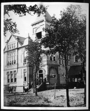 Primary view of object titled 'First building on Texas Normal College and Teachers Training Institute'.