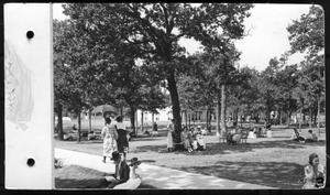 Primary view of object titled 'Interior North Texas State Normal College campus, early 1920s'.