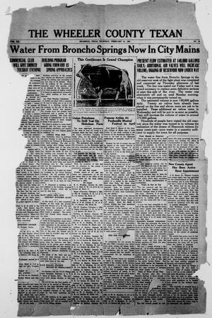 Primary view of object titled 'The Wheeler County Texan (Shamrock, Tex.), Vol. 20, No. 41, Ed. 1 Thursday, February 14, 1924'.