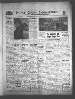 Primary view of object titled 'Honey Grove Signal-Citizen (Honey Grove, Tex.), Vol. 73, No. 33, Ed. 1 Friday, August 21, 1964'.