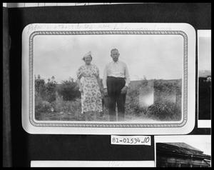 Primary view of object titled 'Man and Woman at Cemetery'.