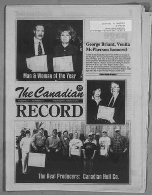 Primary view of object titled 'The Canadian Record (Canadian, Tex.), Vol. 3, No. 10, Ed. 1 Thursday, March 8, 2001'.