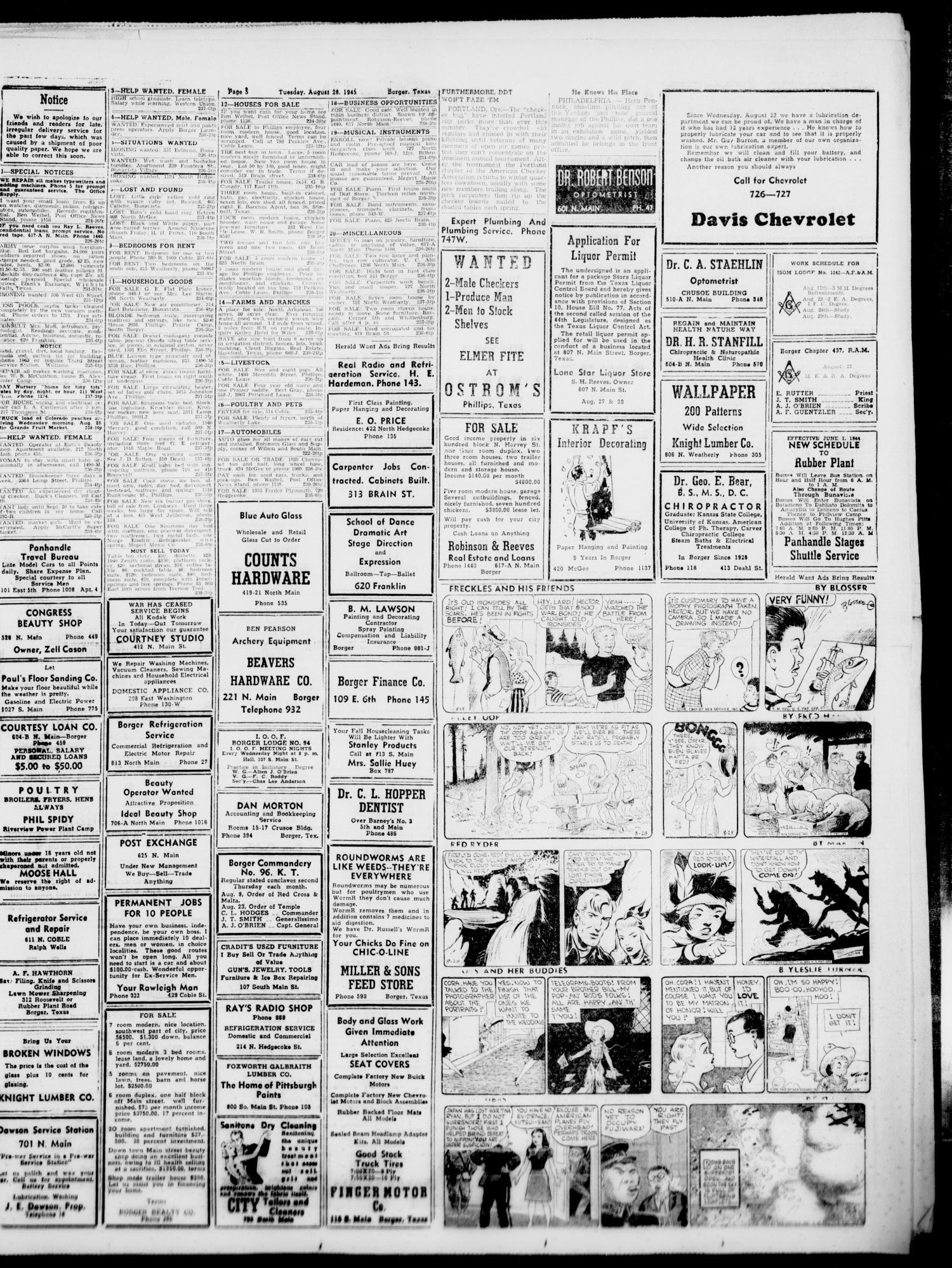 Borger Daily Herald (Borger, Tex ), Vol  19, No  238, Ed  1 Tuesday
