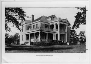 President's home, North Texas State Normal College, 1919