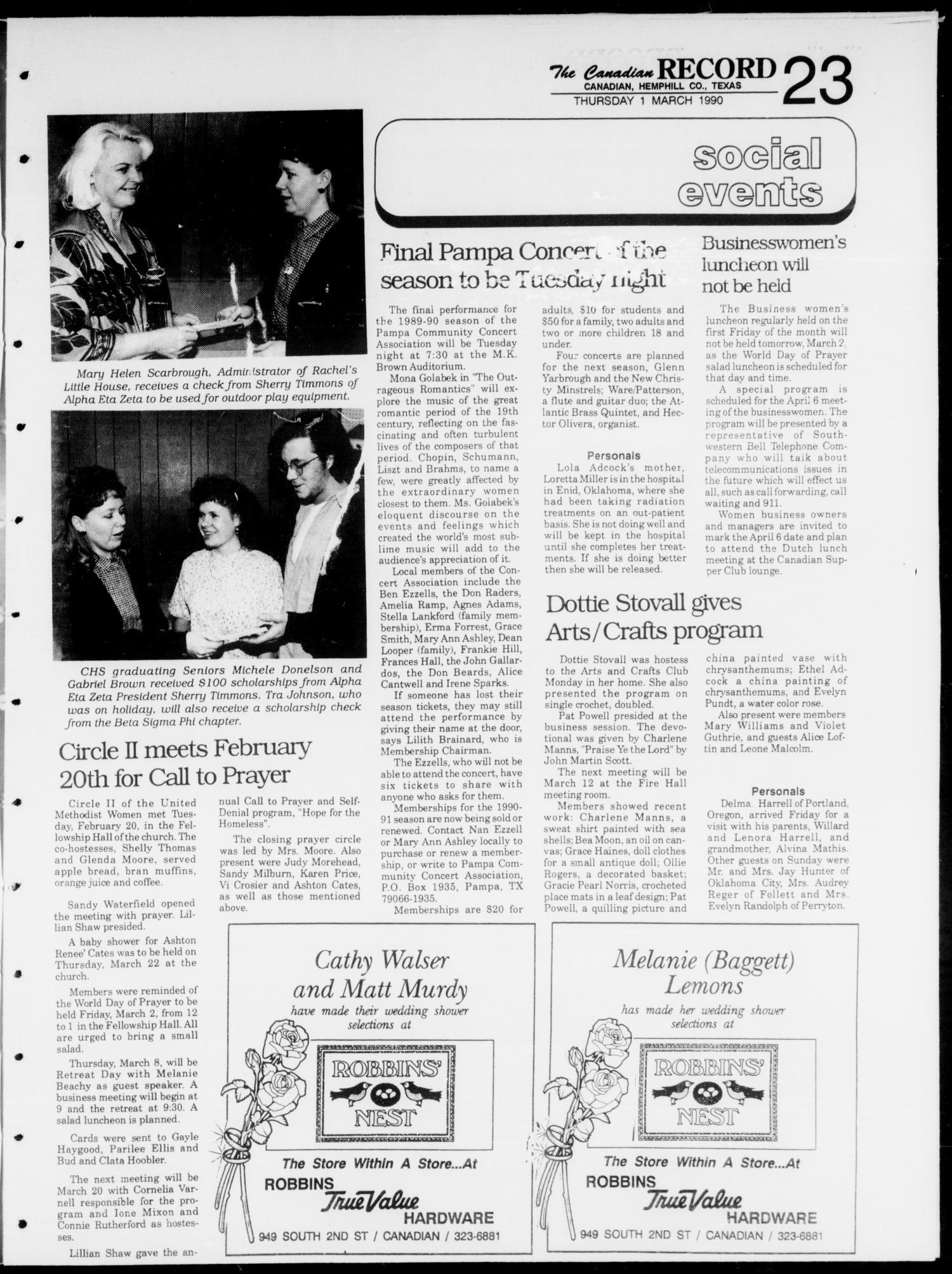 The Canadian Record (Canadian, Tex ), Vol  100, No  9, Ed  1