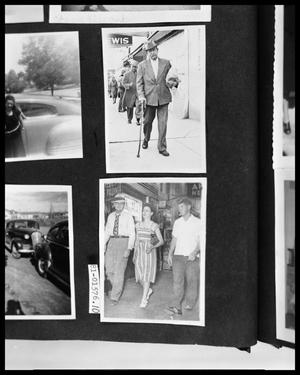 Primary view of object titled 'Man on Sidewalk; Man and Woman on Sidewalk'.