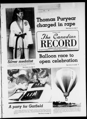 Primary view of object titled 'The Canadian Record (Canadian, Tex.), Vol. 97, No. 26, Ed. 1 Thursday, June 25, 1987'.