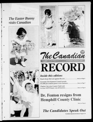 Primary view of object titled 'The Canadian Record (Canadian, Tex.), Vol. 108, No. 22, Ed. 1 Thursday, April 16, 1998'.