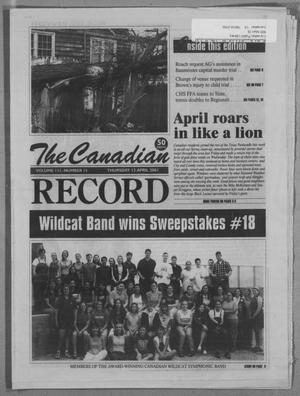 Primary view of object titled 'The Canadian Record (Canadian, Tex.), Vol. 3, No. 15, Ed. 1 Thursday, April 12, 2001'.