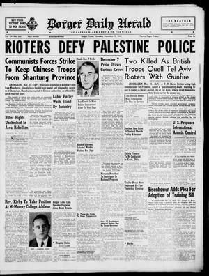 Primary view of Borger Daily Herald (Borger, Tex.), Vol. 19, No. 306, Ed. 1 Thursday, November 15, 1945