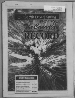 Primary view of object titled 'The Canadian Record (Canadian, Tex.), Vol. 3, No. 13, Ed. 1 Thursday, March 29, 2001'.