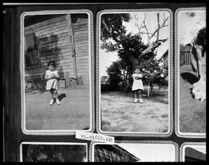 Primary view of object titled 'Girl Playing in Yard'.