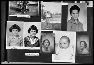 Primary view of object titled 'Girl with  Birthday Cake; Late 1950s School Pictures; School Pictures; School Pictures; Portrait of Woman; Baby Picture; Portrait of Woman'.