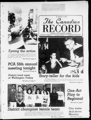 Primary view of object titled 'The Canadian Record (Canadian, Tex.), Vol. 99, No. 15, Ed. 1 Thursday, April 13, 1989'.