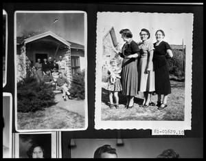 Primary view of object titled 'Family on Porch; Women and Child in Yard'.