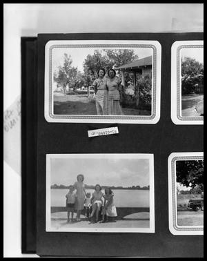Primary view of object titled 'Women by Cabin; Family by Lakeshore'.