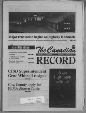 Primary view of object titled 'The Canadian Record (Canadian, Tex.), Vol. 3, No. 9, Ed. 1 Thursday, March 1, 2001'.
