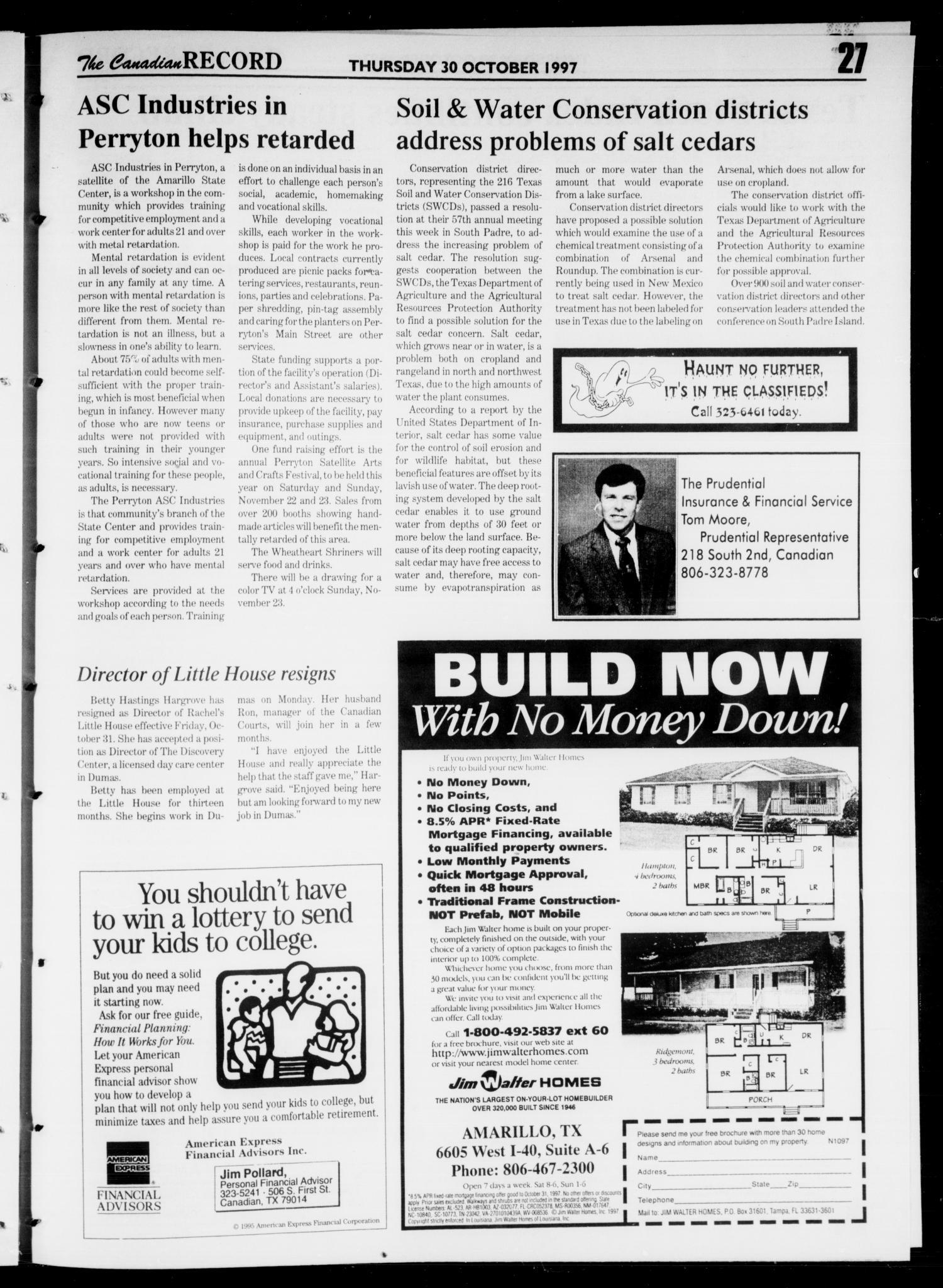 The Canadian Record (Canadian, Tex ), Vol  107, No  44, Ed