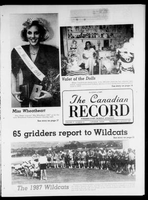 Primary view of object titled 'The Canadian Record (Canadian, Tex.), Vol. 97, No. 33, Ed. 1 Thursday, August 13, 1987'.