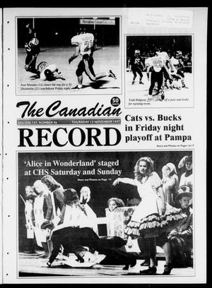 Primary view of object titled 'The Canadian Record (Canadian, Tex.), Vol. 107, No. 46, Ed. 1 Thursday, November 13, 1997'.