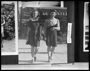 Primary view of object titled 'Girls on Sidewalk'.