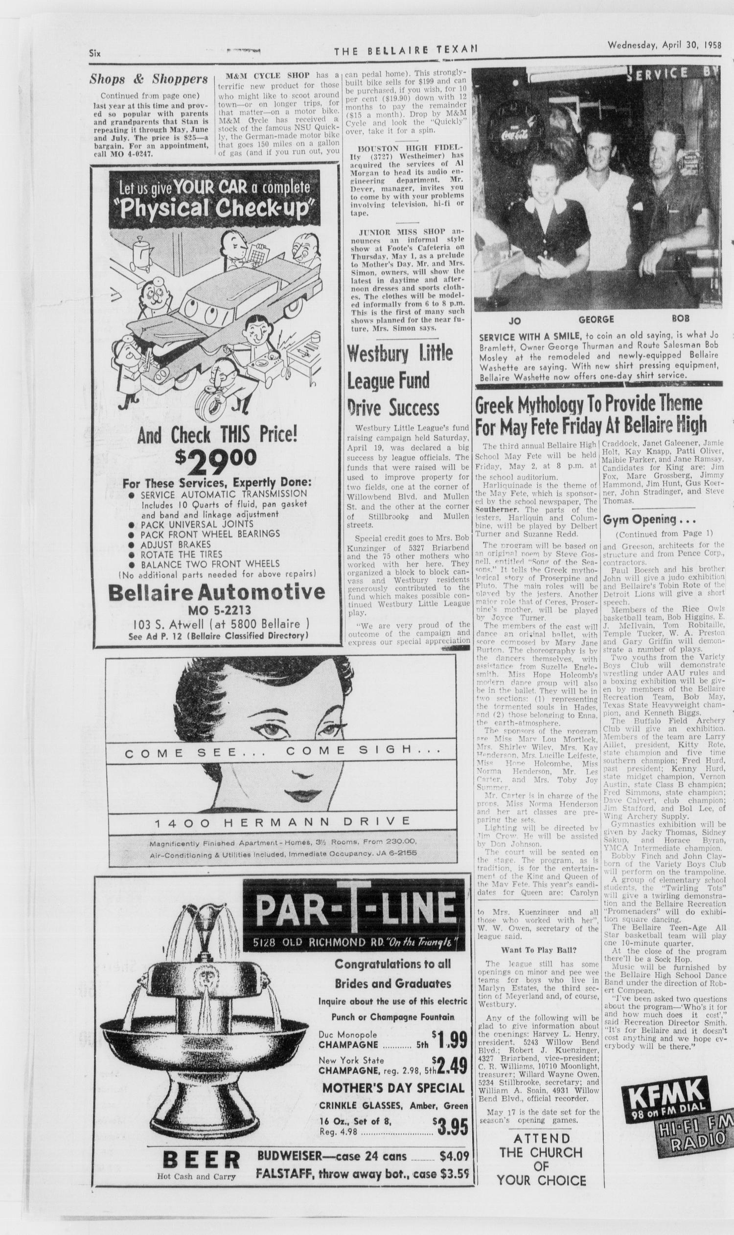 The Bellaire Texan (Bellaire, Tex ), Vol  5, No  11, Ed  1 Wednesday