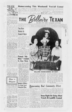 Primary view of The Bellaire Texan (Bellaire, Tex.), Vol. 5, No. 18, Ed. 1 Wednesday, June 18, 1958