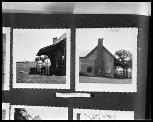 Primary view of object titled 'Couple by House; House Exterior'.