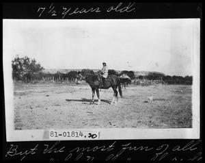 Primary view of object titled 'Child on Horse'.