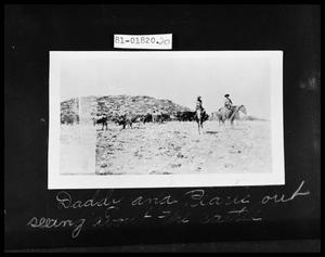 Primary view of object titled 'Man and Girl at Roundup'.