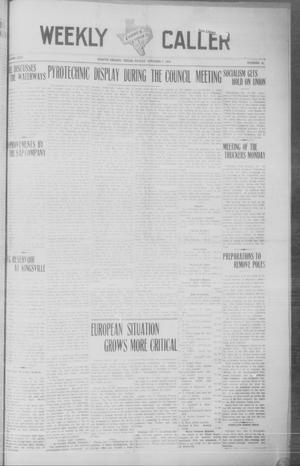 Primary view of object titled 'Corpus Christi Weekly Caller (Corpus Christi, Tex.), Vol. 25, No. 42, Ed. 1 Friday, October 9, 1908'.