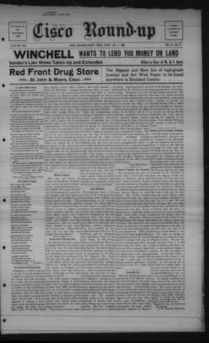 Primary view of object titled 'Cisco Round-up (Cisco, Tex.), Ed. 1 Friday, January 11, 1907'.