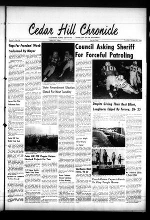 Primary view of object titled 'Cedar Hill Chronicle (Cedar Hill, Tex.), Vol. 1, No. 24, Ed. 1 Thursday, October 28, 1965'.