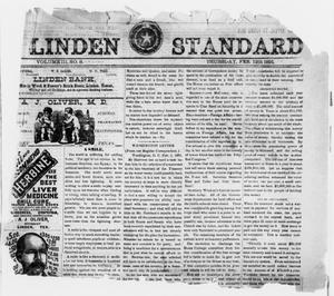 Primary view of object titled 'Linden Standard (Linden, Tex.), Vol. 3, No. 8, Ed. 1 Thursday, February 12, 1891'.